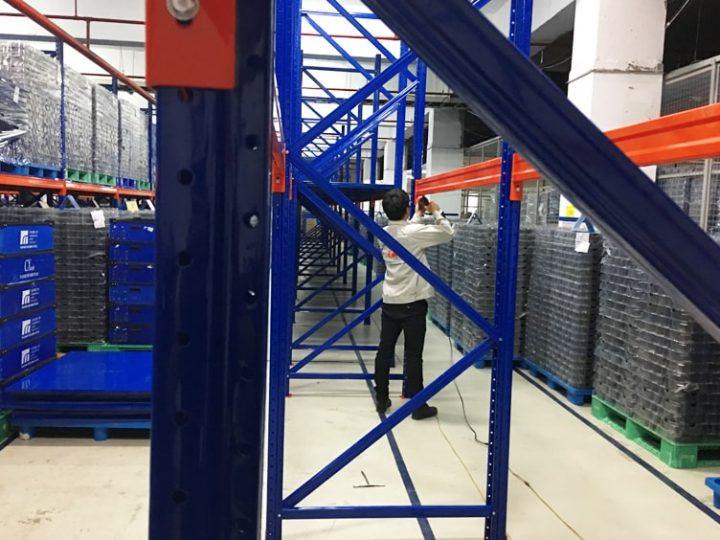 Triển khai giá kệ kho hạng nặng cho Điện tử Foster Bắc Ninh